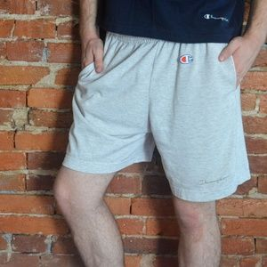 Vintage Champion Script and Logo Athletic Shorts